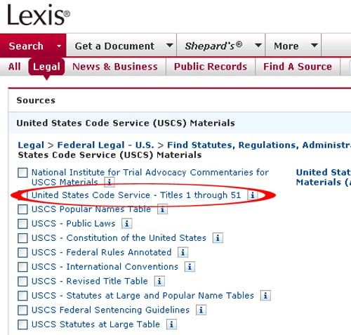 Lexis has new U.S. Code Title 51 on-line